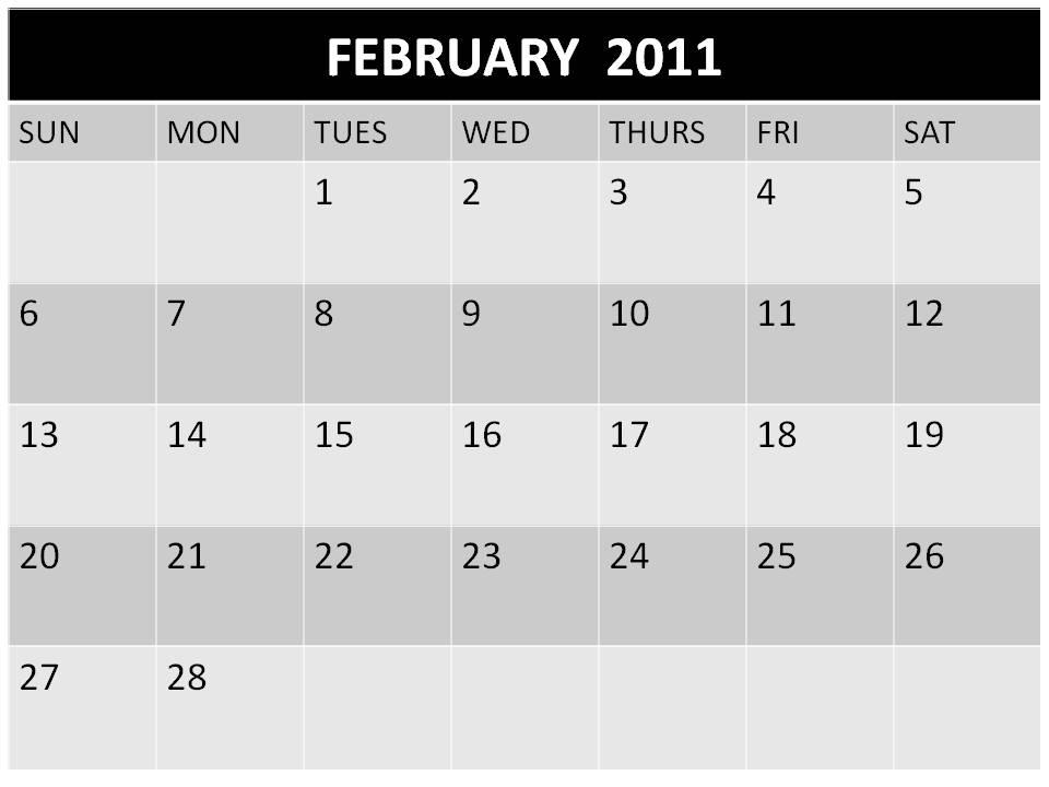 2011 calendar printable february. 2011 calendar australia